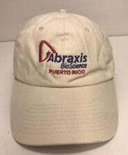 Abraxis BioScience Corporate Puerto Rico Cap - Cotton Tan Hat - Hook & Loop