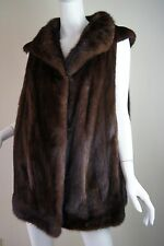 Stylish Genuine Brown Mink Fur Vest