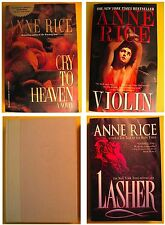 4 BOOKS Anne Rice Cry to Heaven Lasher Violin PBs, Tale of Body Thief HB (No DJ)