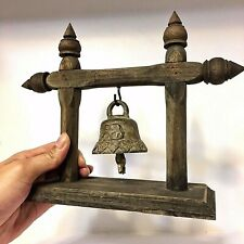 RARE BELLS ANTIQUE BUDDHA AMULET CLAPPER SOUND TEMPLE HANGING OLD HOLY FAMOUS