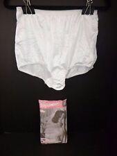 NOS 3 Pk Vtg Captiva Nylon Granny Panties Sissy Briefs White Sz 10 Made in USA