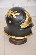 Medieval German Sallet Helmet European Closehelm Collectible Armour with stand