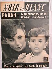 NOIR ET BLANC 891 MARS 1962 FARAH LAISSEZ-MOI MON ENFANT