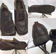Clark's XTR Lite Loafers Shoes Sz 10 Men Brown Leather Slip On EUC YGI F7