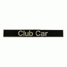 Club Car DS Golf Cart Name Plate Emblem (Black & Silver)