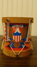 """Vintage Handmade Drums - Coin Bank -  Seattle 1st National Bank 1975, Size 4.8""""T"""
