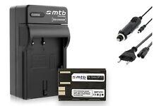 Batterie BP-511 + Caricatore per Canon EOS 5D, 10D, 20D, 20Da, 30D, 40D, 50D