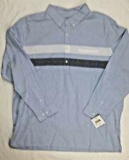 NWT Falls Creek mens long sleeve button denim look shirt SZ XX Large