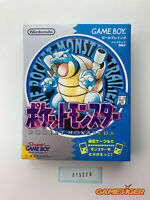 POCKET MONSTER Blue Pokemon Nintendo Gameboy JAPAN Ref:315228