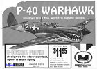 """Midwest Profile Warbird Plans: 48"""" P-40 Warhawk for .29 to .40 Engines"""