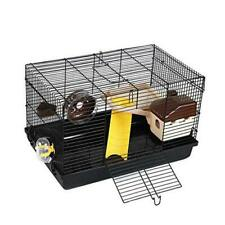 Hamster Cage, Large Guinea Pig Cage Haven Habitat,Small Animal onesize Black