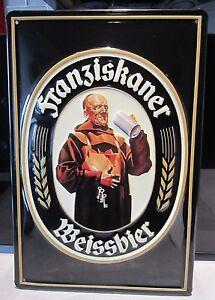 FRANZISKANER WEISSBIER/BEER , EMBOSSED METAL ADVERTISING SIGN 30x20cm PUB/ BAR