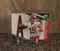 "2019 Donruss Elite Patrick Mahomes II Spellbound Insert ""A"" Green #SP-3 Chiefs"