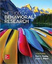 Methods in Behavioral Research 13e Global Edition