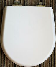 Ideal Standard 'White' Resin Replica SOFT CLOSE Seat with CP hinges