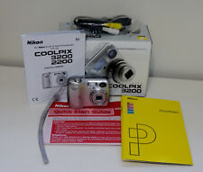 NIKON COOLPIX 3200 Compact Digital Camera 3.2MP  3x Zoom Silver Good Condition