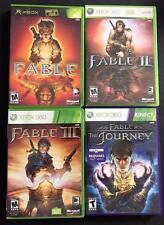 Fable Game Lot/RUN #1, #2, #3 & Fable The Journey Kinect x4 Games CLASSIC TESTED