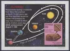 GUYANA 1996 MARS METEORITE Sc 3105A SOUVENIR SHEET MNH VF SPACE SCOTT UNPRICED!