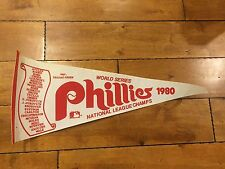 1980 PHILADELPHIA PHILLES WORLD SERIES NATIONAL LEAGUE CHAMPS PENNANT 30""