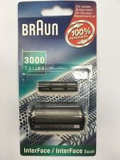 BRAUN 628 TETE DE RASAGE GRILLE + COUTEAU NEUF NEW SOUS BLISTER FERME ET SCELLE