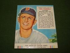 1953 REDMAN TOBACCO CARD OF MEL PARNELL, CARD #25,  HIGH GRADE APPEARENCE