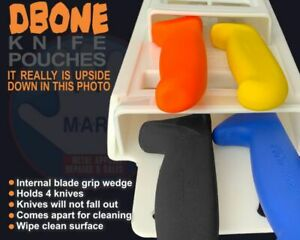 Knife Pouch DBone Butchers Kit SK10 Quad Pouch with Knife grip wedges