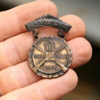 NRA Junior Rifle Corps Marksman Medal Pin Badge Award VTG Shooting Gun old