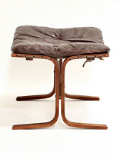 More details for mid century ingmar relling brown leather siesta footstool/ottoman by westnofa