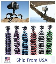 Mini Flexible Tripod Bubble Octopus Stand  Pod for Gopro Camera / SLR / DV USA