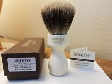 Zenith Ivory Resin Manchurian Badger Shave Brush 27.5x51mm. Italia 2-Band 507A