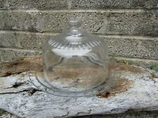 More details for vintage french arcoroc clear glass butter dish and dome lid - retro kitchen