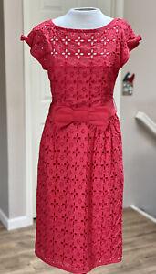 NANETTE LEPORE Red Eyelet Dress 6