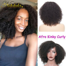 16inch Afro Kinky Curly Lace Front Wig Natural Brazilian Human Hair 130 Density