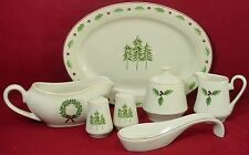 MERRY BRITE china HOLIDAY HOME pattern 8-pc HOSTESS SERVING SET