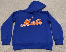 Majestic New York Mets Blue MLB Youth Kid Boy's Medium (10-12) Sweatshirt Hoodie