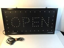 Open Store Sign Shop Equipment Blue Flashing Led Light Approx. 18� x 10�