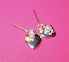"""Silver"" Heart Doll Earrings ONLY Fits:Jamieshow/Alex/Integrity/Barbie/Micki"