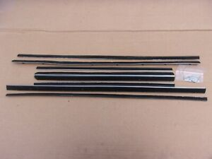 NEW 1965-1968 Fury Polara Chrysler 4 Door Sedan Belt Weatherstrip Catwhisker Set