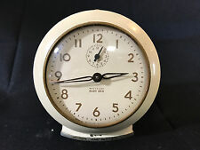 Old Vtg Westclox Baby Ben Desk Alarm Clock Made In The USA Cream White Color