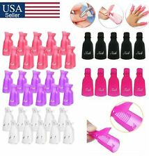 10 Pcs Plastic Nail Soak Off UV Gel Art Polish Remover Wrap clip Cap from USA