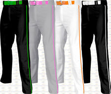 Champro Adult Mens Open Bottom Adjustable Baseball Pants W/ Custom Piping Braid