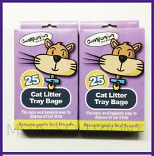2XPACKS OF CAT LITTER TRAY LINERS/EASY & HYGIENIC PETS WASTE DISPOSAL WAY 50BAGS