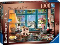 Ravensburger 1000 Piece Jigsaw Puzzle The Puzzlers's Desk - Minor Box Damage