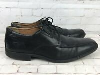 Clarks Collection Ortholite Cushion Soft Black Leather Men's Shoes - UK 8.5G