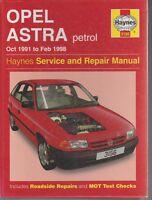 MOTOR CAR  MANUEL OPEL ASTRA 1991 TILL 1998