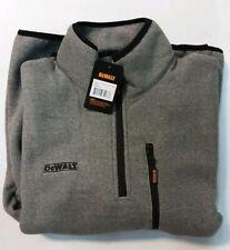 DeWALT Workwear Men's 1/4 Zip Fleece High Neck Premium Grey Jacket (Large)