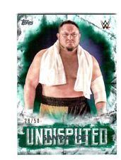 WWE Samoa Joe #37 2018 Topps Undisputed Green Parallel Card SN 28 of 50