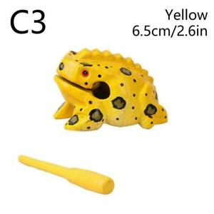 Creative Craft Gift Color Percussion Instruments Wooden Home Frog C7S9