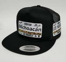 LAS PLACAS DE MICHOACAN   HAT MESH TRUCKER BLACK 2LOGOS   ADJUSTABLE  NEW