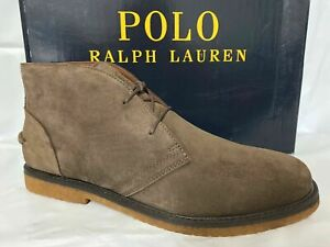 POLO RALPH LAUREN MARLOW BROWN SUEDE CHUKKA BOOTS (SIZE 10.5) [DEADSTOCK]